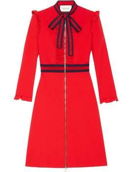 Kleid Mit Webstreifen by Gucci