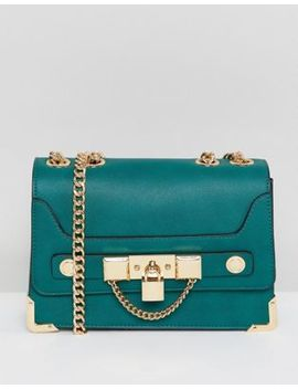 Aldo Chain And Padlock Crossbody In Green by Aldo