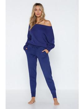 Get It On Off The Shoulder Sweater And Pants Set by Nasty Gal