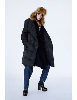 Puffer Coat With Wrap Collar  Coatswoman by Zara