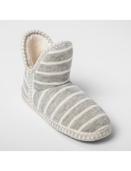 womens-striped-bootie-slippers---gilligan-&-omalley-gray by gilligan-&-omalley