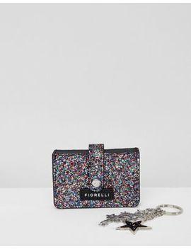 Fiorelli Abi Glitter Card Holder With Detachable Keyring by Fiorelli
