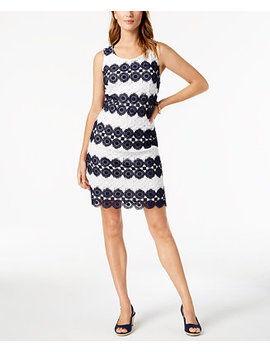 Crochet Lace Shift Dress, Created For Macy's by Charter Club