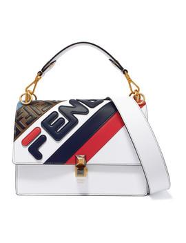 Kan I Appliquéd Leather Shoulder Bag by Fendi