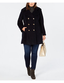 Plus Size Double Breasted Peacoat by Michael Michael Kors