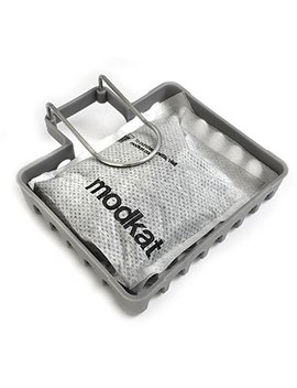 Modkat Odor Filter Kit, Basket + Two 100 Percents Natural Bamboo Charcoal Filter Packs by Modkat