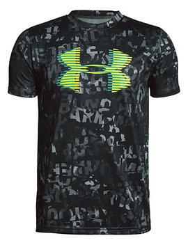 Big Boys Printed Logo Print T Shirt by Under Armour