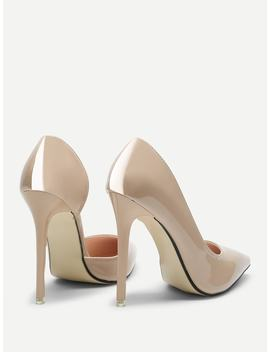 Pointed Toe Pu Pumps by Sheinside