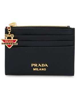 Saffiano Card Holder With Robot Charm by Prada