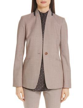 Darcy Plaid Jacket by Lafayette 148 New York