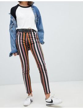 Pull&Bear Striped Skinny Jean by Pull&Bear
