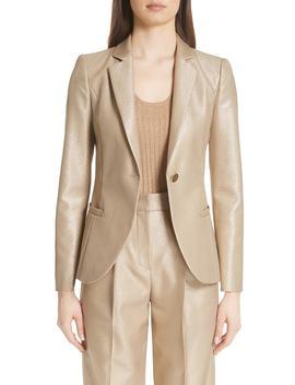 Metallic One Button Jacket by Emporio Armani