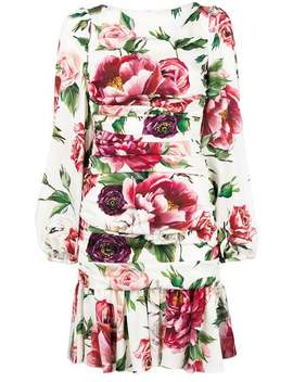 Printed Ruched Waist Dress by Dolce & Gabbana