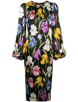 Floral Fitted Dress by Dolce & Gabbana
