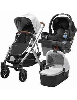 2018 Uppa Baby Vista Stroller   Loic (White/Silver/Saddle Leather) + Mesa  Jake (Black) by Upp Ababy