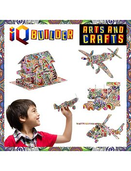 Iq Builder | Fun Creative Diy Arts And Crafts Kit | Best Toy Gift For Girls And Boys Age 8 9 10 11 12 Year Old | Educational Art Building Painting Coloring 3 D Puzzle Project Set For Kids And Adults by Iq Builder