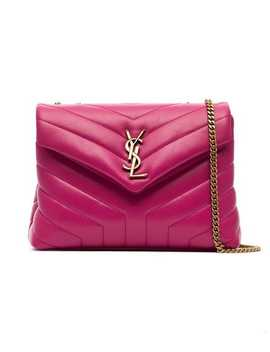 Pink Loulou Quilted Leather Shoulder Bag by Saint Laurent