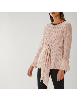 Marcia Dobby Tie Front Top by Coast