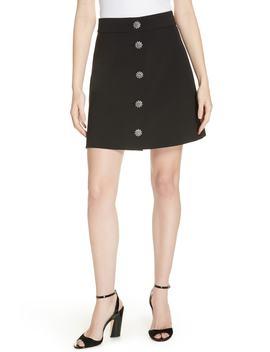 Jewel Button Miniskirt by Kate Spade New York