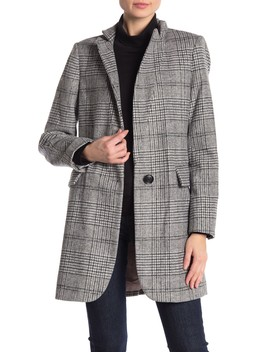 Long Plaid Coat by Lucky Brand