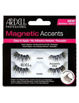 Ardell Accent 002 Magnetic Eyelashes Black  1pr by Ardell
