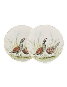Festive Fall Collection Quail Salad Plates, Set Of 2 by Southern Living