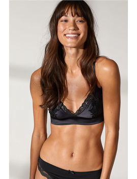Soft Satin And Lace Bra by H&M