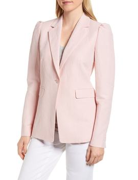 Linen Blend Blazer by Nordstrom Signature