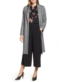 Open Front Glen Plaid Duster by Vince Camuto