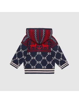 Baby Gg Reindeers Wool Cardigan by Gucci