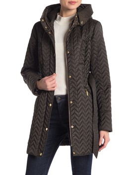 Quilted 3/4 Belted Trench Coat by Laundry By Shelli Segal