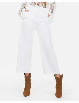 Extreme High Waisted Cropped Wide Leg Pants by Express