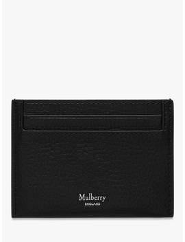 Mulberry Grain Veg Tanned Leather Credit Card Slip, Black by Mulberry