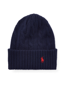 Cable Cashmere Wool Hat by Ralph Lauren