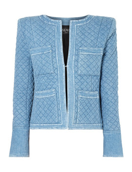 Quilted Denim Jacket by Balmain