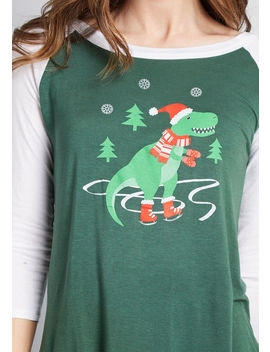 A 'saur Thing Raglan Graphic Tee by Modcloth