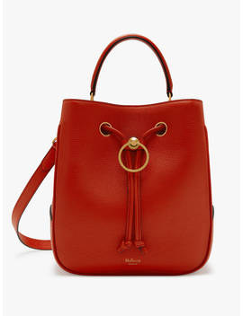 Mulberry Hampstead Classic Grain Leather Large Shoulder Bag, Hibiscus Red by Mulberry