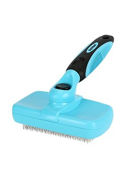 Pet Neat Self Cleaning Slicker Brush Effectively Reduces Shedding By Up To 95 Percents   Professional Pet Grooming Brush For Small, Medium & Large Dogs And Cats, With Short To Long Hair by Pet Neat