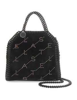 The Falabella Tiny Crystal Embellished Velvet Shoulder Bag by Stella Mc Cartney