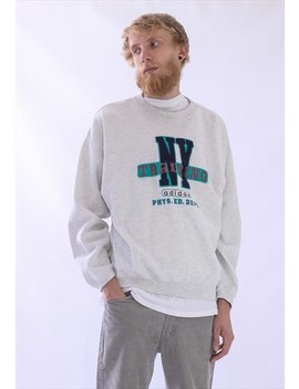 Vintage Mens Adidas Originals Training Sweatshirt Big Logo by Adidas