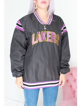 Vintage 90s Lakers Basketball Tracksuit Windbreaker Jacket by Dark Paradise Vintage