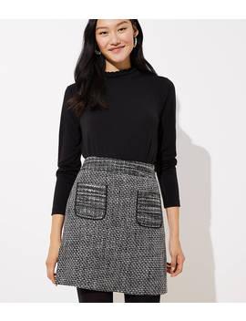 Petite Tweed Pocket Skirt by Loft