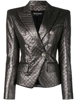 Quilted Fitted Blazer by Balmain
