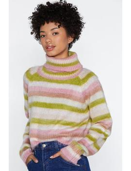Blur The Lines Striped Sweater by Nasty Gal