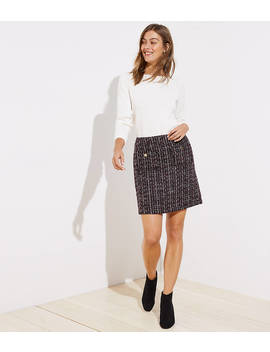 Petite Boucle Pocket Shift Skirt by Loft
