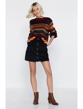 Hot And Chevy Fluffy Knit Sweater by Nasty Gal