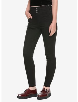 Black Side Lace Up High Waist Skinny Jeans by Hot Topic