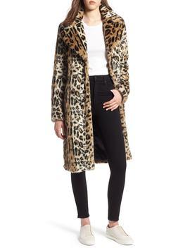 Leopard Faux Fur Coat by Kendall + Kylie