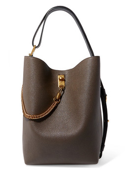 Gv Bucket Textured Leather Shoulder Bag by Givenchy