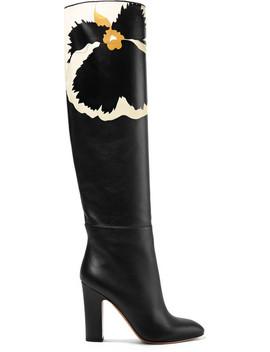 Valentino Garavani Printed Leather Knee Boots by Valentino